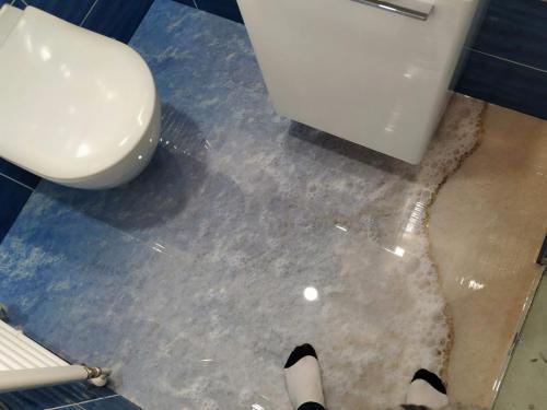3D podlaha WC